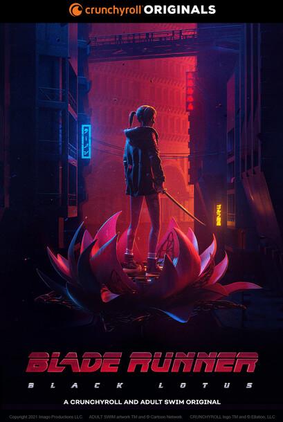 Постеры аниме «Бегущий по лезвию: Чёрный лотос»