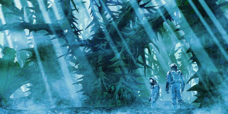 Промо-арт аниме «Годзилла: Планета кайдзю»