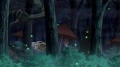 В лесу мерцания светлячков