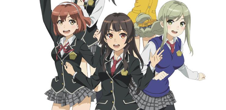 Промо-арт аниме «Штурмовые школьницы»