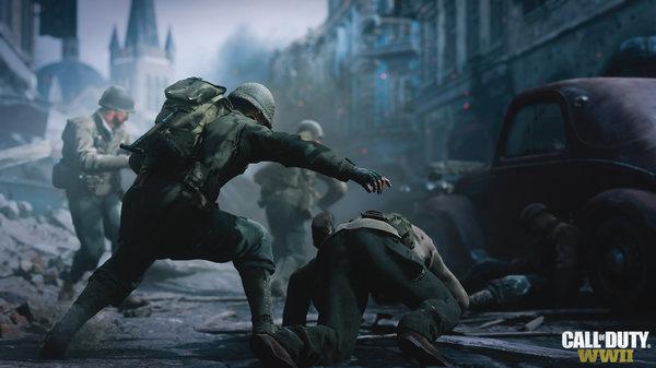 Кадры из игры Call of Duty: WWII