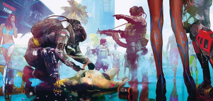 Промо-арт игры Cyberpunk 2077