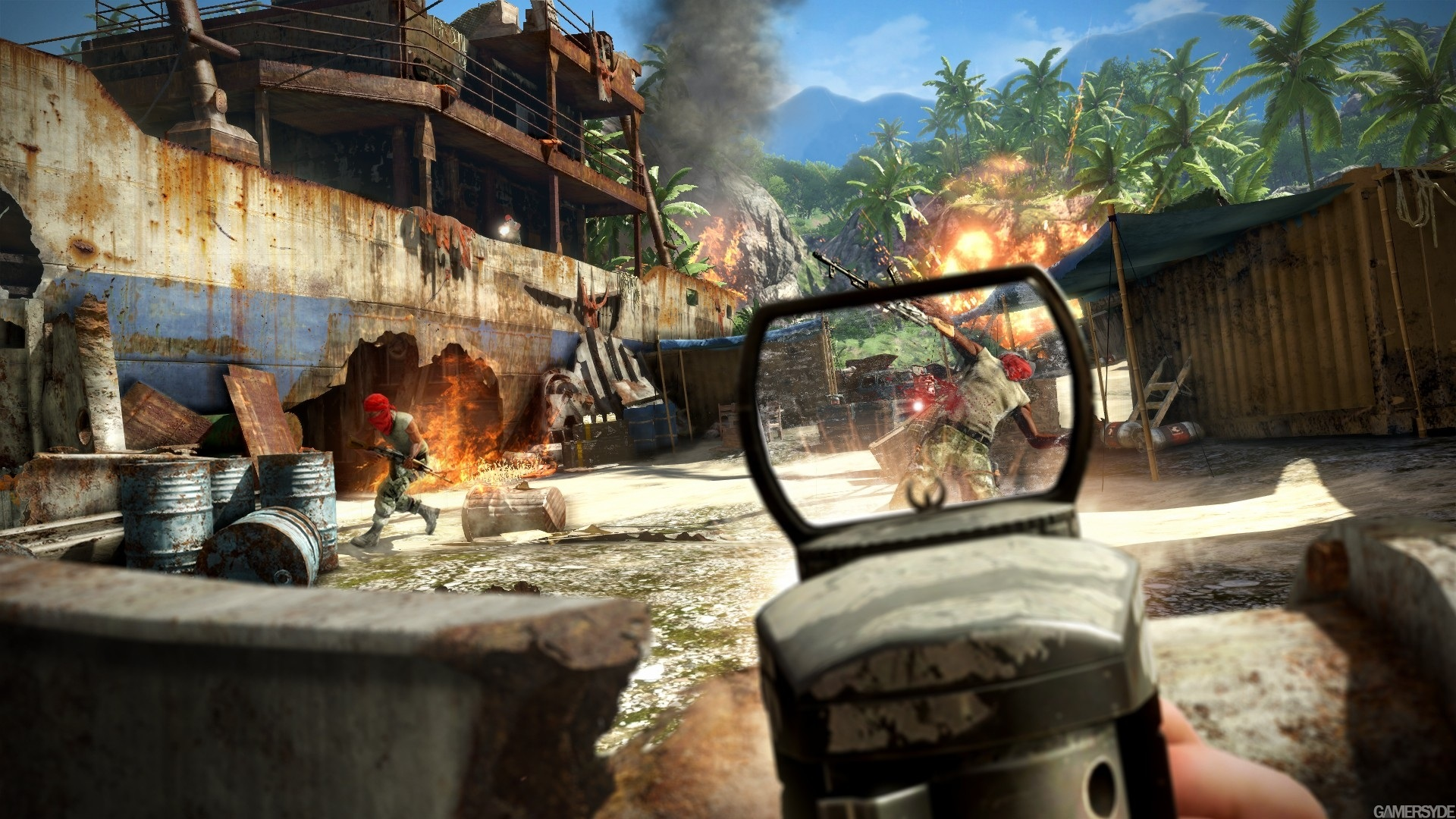 Far Cry 2 игры оружие мужчина бесплатно
