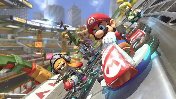 Кадры из игры Mario Kart 8 Deluxe