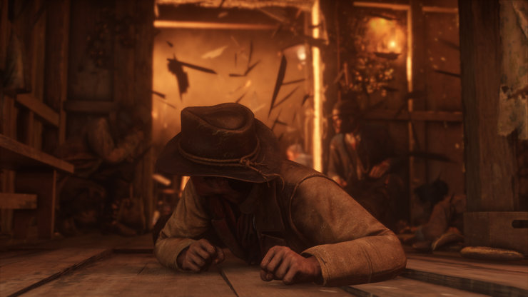 Кадры из игры Red Dead Redemption II