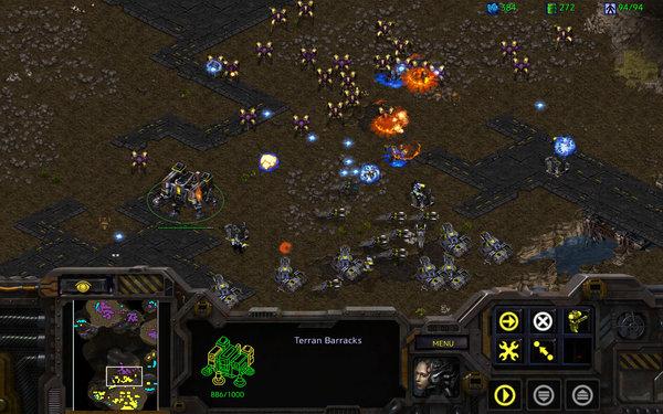 Кадры из игры StarCraft Remastered