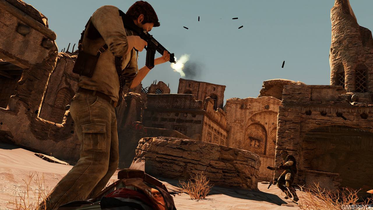 Uncharted 3 Drakes Deception is a unique thirdperson ActionAdventure game for play exclusively on PlayStation 3 that incorporates significant Shooter and