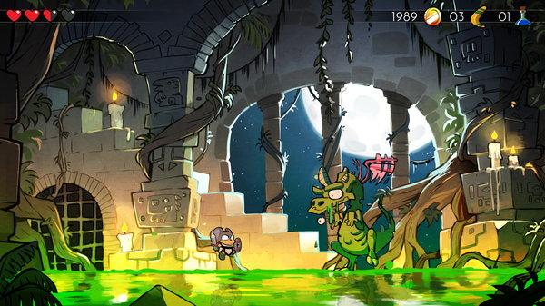 Кадры из игры Wonder Boy: The Dragon's Trap
