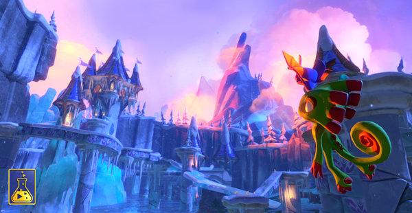 Кадры из игры Yooka-Laylee
