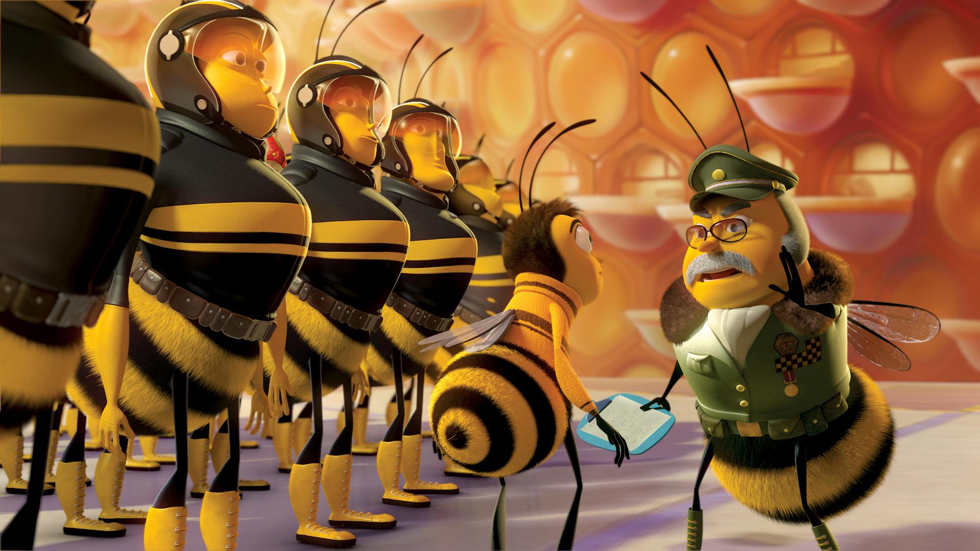 Смешная картинка с пчелой, открытка для мамы