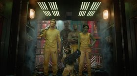 «Стражи галактики» (Guardians of the Galaxy)  Режиссер: Джеймс Ганн В ролях: Крис Пратт, Майкл Рукер, Зои Салдана, Дэйв Батиста