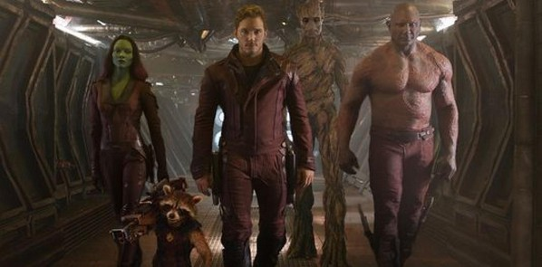 «Стражи галактики» (Guardians of the Galaxy)  Режиссёр: Джеймс Ганн В ролях: Крис Пратт, Майкл Рукер, Зои Салдана, Дэйв Батиста