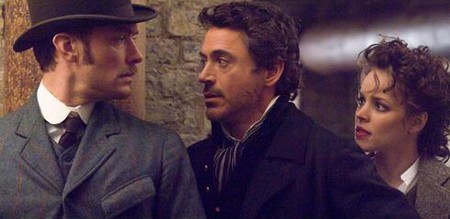 «Шерлок Холмс» (Sherlock Holmes (Warner Bros. Pictures))  Режиссер: Guy Ritchie В ролях: Robert Downey Jr., Jude Law, Rachel McAdams, Mark Strong, Kelly Reilly, Eddie Marsan