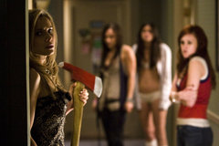 «Переполох в женской общаге» (Sorority Row)  Режиссер: Stewart Hendler В ролях: Briana Evigan, Leah Pipes, Rumer Willis, Jamie Chung, Audrina Patridge, Carrie Fisher