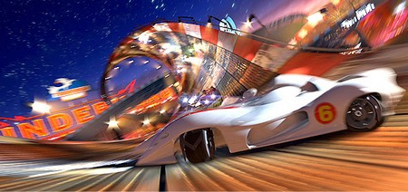 «Спиди Гонщик» (Speed Racer)  Режиссер: Энди Вачовски, Ларри Вачовски В ролях: Эмиль Хирш, Кристина Риччи, Мэттью Фокс, Сьюзан Сарандон, Джон Гудман, Кик Гарри