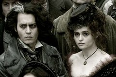 «Суини Тодд: Демонический цирюльник Флит-стрит» (Sweeney Todd: The Demon Barber of Fleet Street)  Режиссер: Тим Бертон В ролях: Джонни Депп, Хелен Бонэм Картер, Кристофер Ли, Саша Барон Коэн, Алан Рикман, Энтони Стюарт, Тимоти Спалл