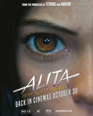Постеры фильма «Алита: Боевой ангел»