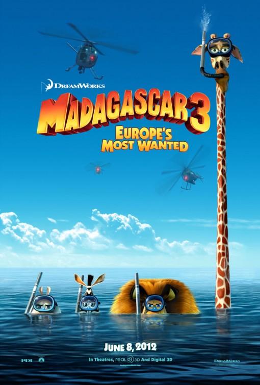 Мадагаскар-3, постер № 1