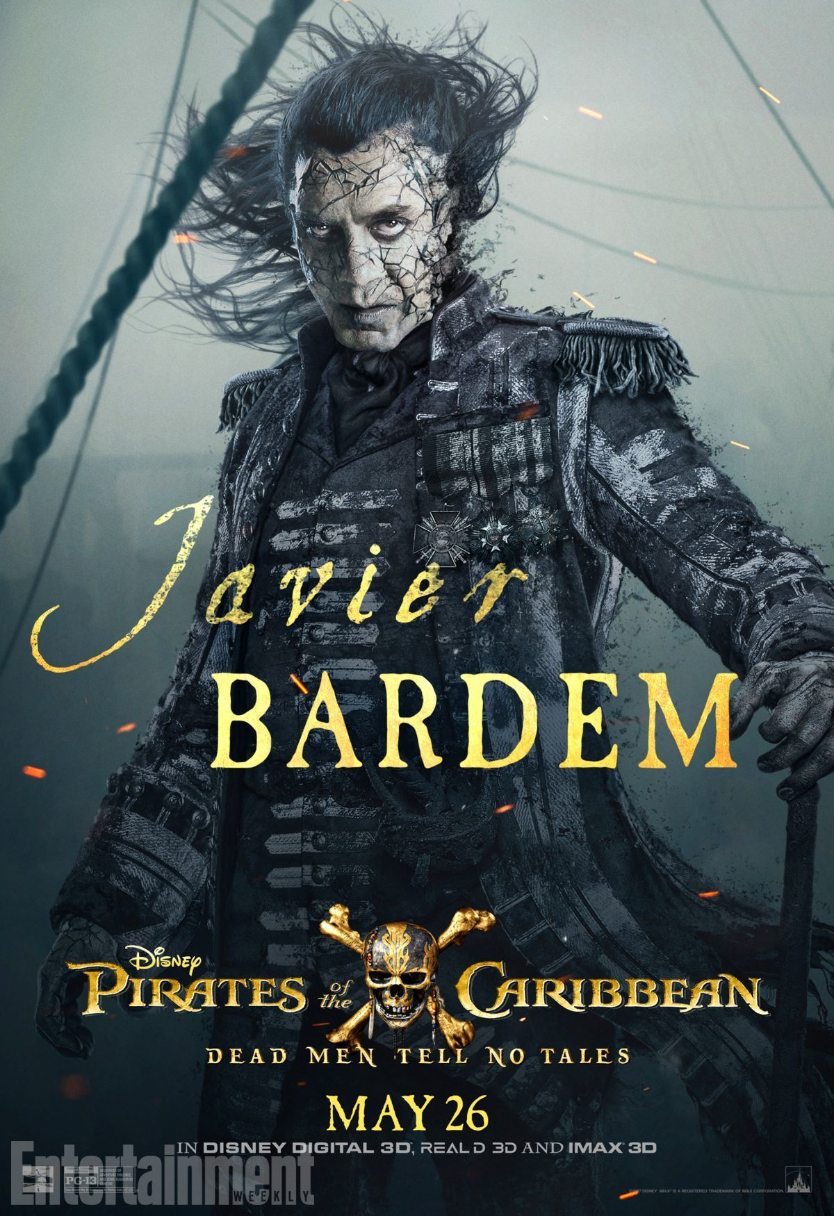 Пираты Карибского моря: Мертвецы не рассказывают сказки, постер № 10