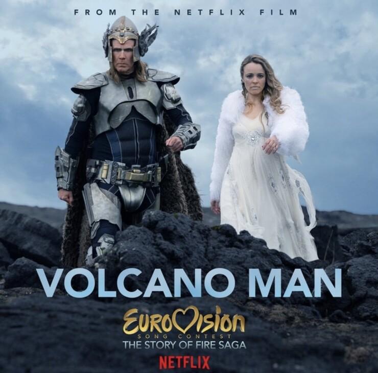 Промо-арт фильма «Евровидение: История огненной саги»