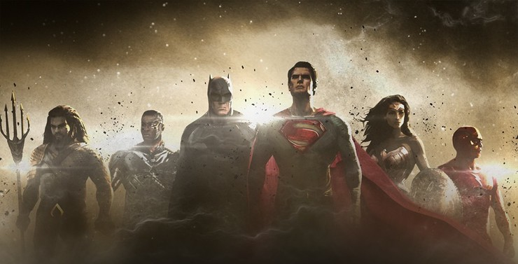 Промо-арт фильма «Лига справедливости»