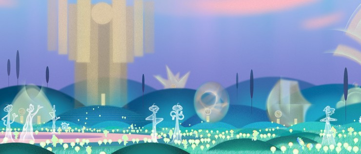 промо арт анимационного фильма от студии Pixar душа