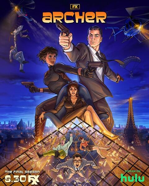 Постеры сериала «Спецагент Арчер»