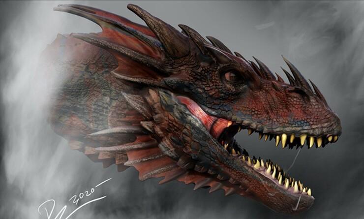 Промо-арт сериала «Дом Дракона»