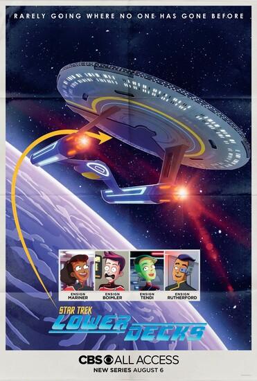 Постеры сериала «Звёздный путь: Нижние палубы»